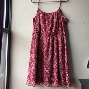 Beautiful Ann Taylor LOFT Maroon Floral dress